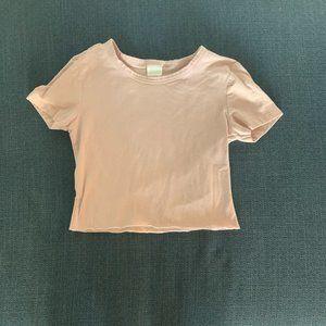 Light pink, short sleeve crop top